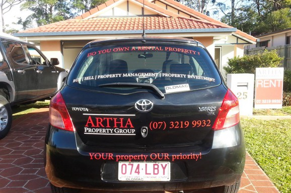 Artha Property Group Vehicle Signage