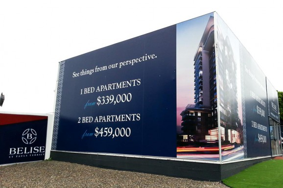 Belise Apartments Show Room Signs