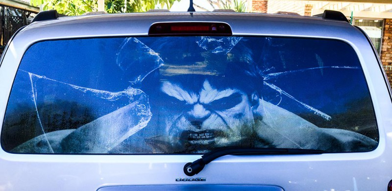 Custom Hulk Glass Smashing One Way Vision