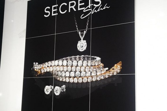 Secrets Jewelry Signage Installation