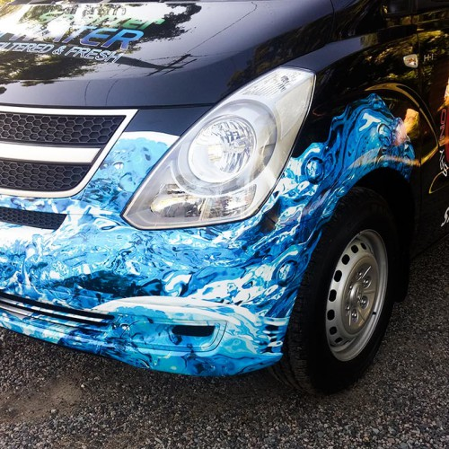 Smarter Water Vehicle Half Wrap